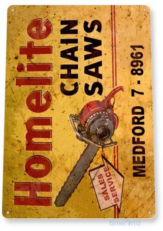 tin sign b619 homelite chain saws tools equipment garage shop rustic tinworld tinsign_com