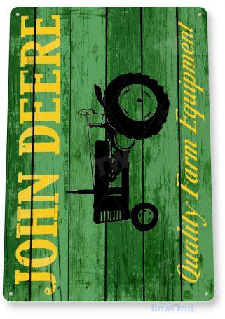 tin sign b628 john deere tractor rustic farm equipment store sign shop garage cave tinworld tinsign_com
