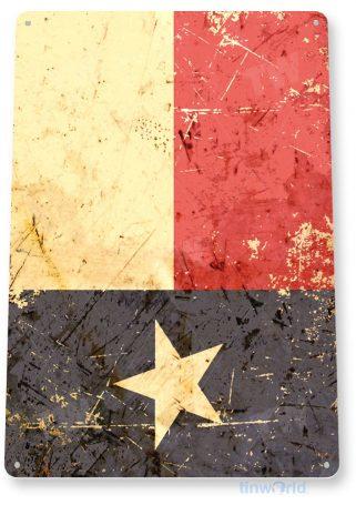 tin sign b648 texas flag rustic patriotic cottage cabin farm tinworld tinsign_com