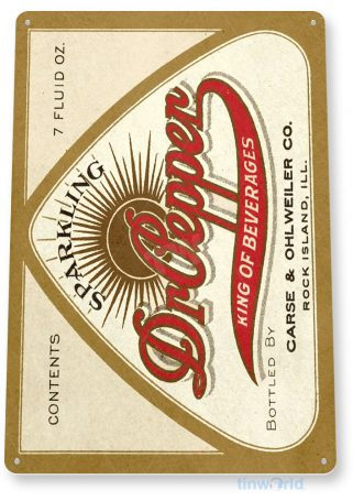 tin sign b665 dr pepper soda retro rustic cola store sign kitchen cottage cave tinworld tinsign_com