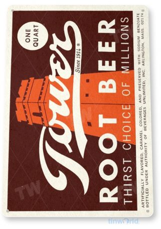 tin sign b692 tower root beer soda retro rustic cola store sign kitchen cottage cave tinworld tinsign_com