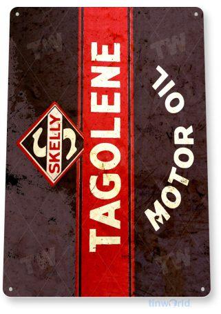 tin sign b737 skelly tagolene motor oil retro rustic oil gas station sign garage auto shop cave tinworld tinsign_com