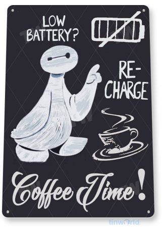 tin sign b758 coffee time chalk sign kitchen cottage farm coffee shop cafe cave tinworld tinsign_com