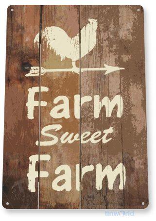 tin sign b762 farm sweet farm rustic kitchen cottage cabin farm barn sign tinworld tinsign_com