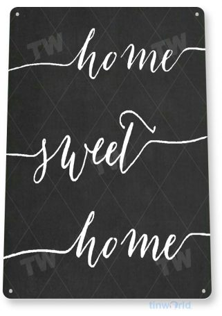 tin sign b771 home sweet home chalk sign kitchen cottage farm cabin beach house tinworld tinsign_com