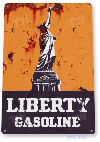 tin sign b774 liberty gasoline retro rustic oil gas station sign garage auto shop cave tinworld tinsign_com