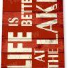 tin sign b775 life better at lake rustic lake beach house cottage marina sign tinworld tinsign_com