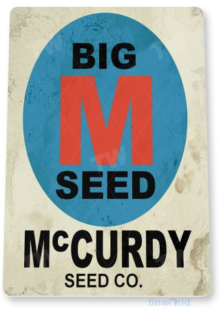 tin sign b781 mccurdy seeds rustic retro farm store sign cottage barn tinworld tinsign_com
