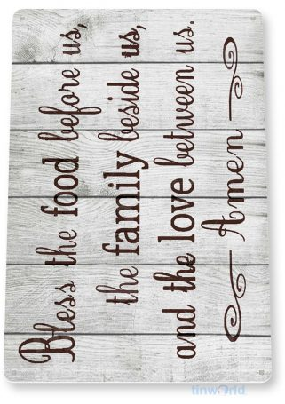 tin sign b806 bless family rustic kitchen cottage cabin church farm lake beach house cave tinworld tinsign_com