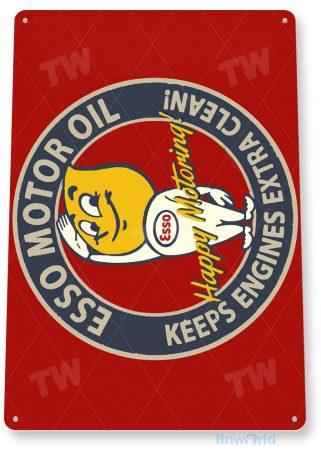 tin sign b816 esso motor oil retro rustic oil gas station sign garage auto shop cave tinworld tinsign_com