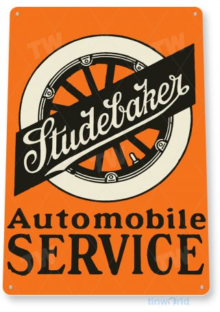 tin sign b847 studebaker automobile service rustic retro garage auto shop store sign tinworld tinsign_com