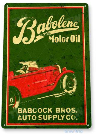 tin sign b854 babolene motor oil retro rustic oil gas station sign garage auto shop cave tinworld tinsign_com