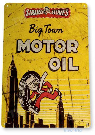 tin sign b865 big town motor oil retro rustic oil gas station sign garage auto shop cave tinworld tinsign_com