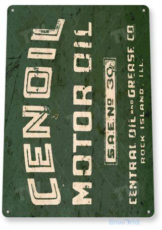 tin sign b870 cenoil motor oil retro rustic oil gas station sign garage auto shop cave tinworld tinsign_com