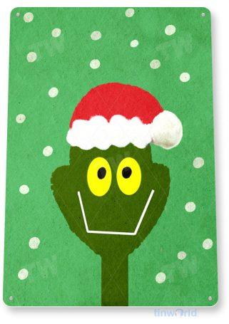 tin sign b878 grinch holiday christmas decoration art cottage cabin farm tinworld tinsign_com