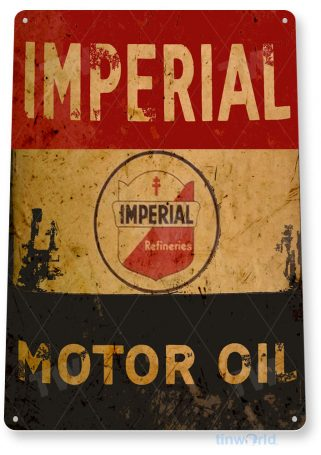 tin sign b886 imperial motor oil retro rustic oil gas station sign garage auto shop cave tinworld tinsign_com