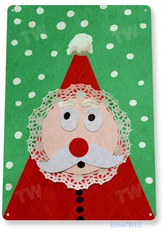 tin sign b905 santa claus holiday christmas art decoration cottage cabin farm tinworld tinsign_com