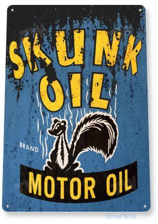 tin sign b906 skunk oil retro rustic oil gas station sign garage auto shop cave tinworld tinsign_com