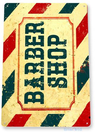 tin sign b917 barber shop retro rustic barber pole sign salon parlor cottage cave tinworld tinsign_com