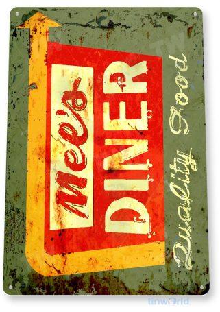 tin sign b935 mels diner retro rustic diner restaurant sign cottage cave tinworld tinsign_com