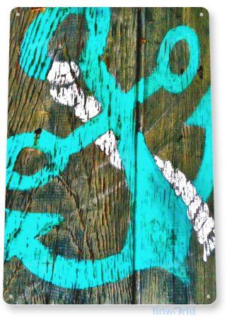 tin sign b947 ancor rope rustic lake beach house cottage cabin marina cave tinworld tinsign_com