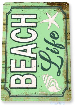 tin sign b952 beach life rustic lake beach house cottage cabin cave tinworld tinsign_com
