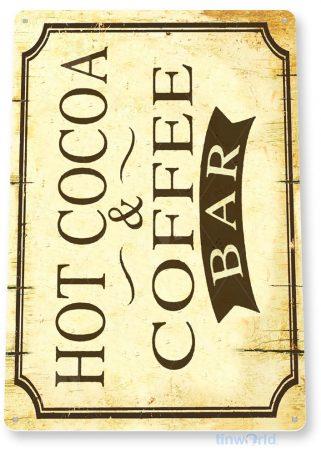 tin sign b964 cocoa coffee bar rustic retro coffee shop sign kitchen cottage cafe farm tinworld tinsign_com