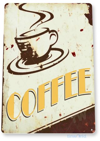 tin sign b966 coffee cup rustic retro coffee shop sign kitchen cottage cafe farm tinworld tinsign_com