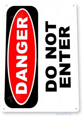 tin sign b979 danger do not enter home room store office warehouse tinworld tinsign_com