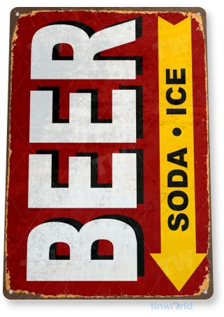 tin sign c000 beer soda ice rustic retro bar pub beer brewery store sign tinworld tinsign_com