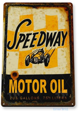 tin sign c052 speedway motor oil retro rustic oil gas station sign garage auto shop cave tinworld tinsign_com