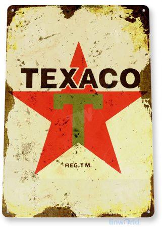 tin sign c055 texaco star gas oil retro rustic oil gas station sign garage auto shop cave tinworld tinsign_com