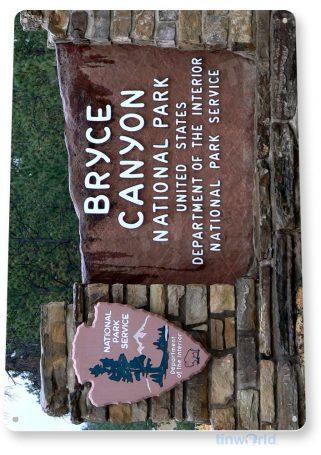 tin sign c073 bryce canyon national park entrance sign souvenir tinworld tinsign_com