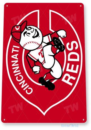 tin sign c075 cincinnati reds retro baseball park sports sign tinworld tinsign_com