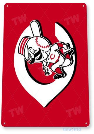 tin sign c077 cincinnati reds retro rustic baseball park sports sign tinworld tinsign_com