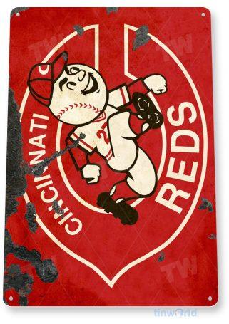 tin sign c078 cincinnati reds retro rustic baseball park sports sign tinworld tinsign_com
