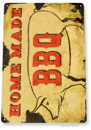 tin sign c102 homemade bbq beef pit smoked sauce rustic tinworld tinsign_com