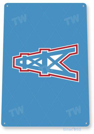 tin sign c107 houston oilers retro football sports sign tinworld tinsign_com