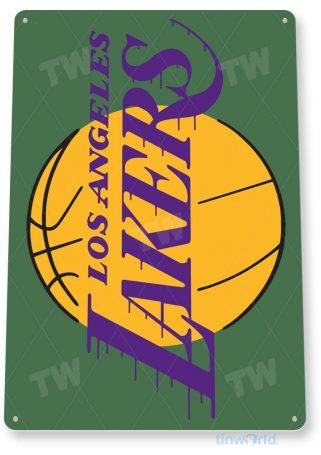 tin sign c113 la lakers basketball park retro sports sign tinworld tinsign_com