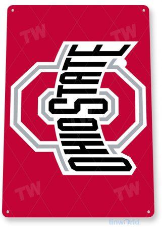 tin sign c129 ohio state college sports sign tinworld tinsign_com