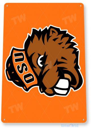 tin sign c130 oregon state university osu college sports sign tinworld tinsign_com