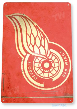 tin sign c144 red wings hockey sports sign tinworld tinsign_com