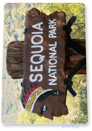 tin sign c148 sequoia national park 2 entrance sign memorabilia tinworld tinsign_com