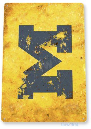 tin sign c163 univ michigan fade college sports sign tinworld tinsign_com