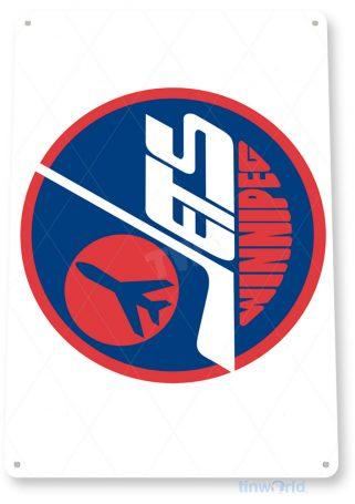 tin sign c171 winnipeg jets hockey sports sign tinworld tinsign_com