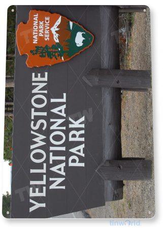tin sign c174 yellowstone national park 2 entrance sign souvenir tinworld tinsign_com