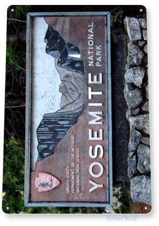 tin sign c175 yosemite national park entrance sign sign souvenir tinworld tinsign_com