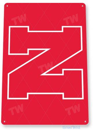 tin sign c179 university of nebraska red college sports logo tinworld tinsign_com