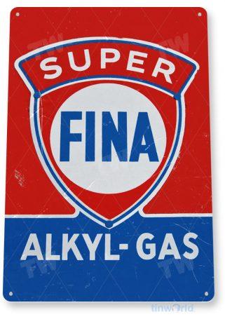 tin sign c198 fina gas retro oil gas station sign garage auto shop cave tinworld tinsign_com