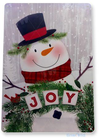 tin sign c209 joy rustic holiday christmas decoration cottage cabin farmpng tinworld tinsign_com